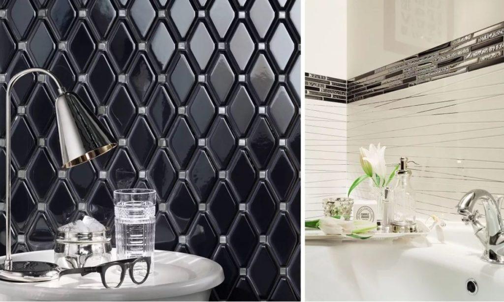 геометрическая плитка для ванной