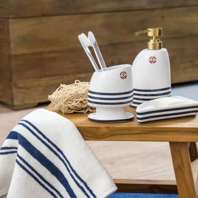 аксессуары для ванной в морском стиле