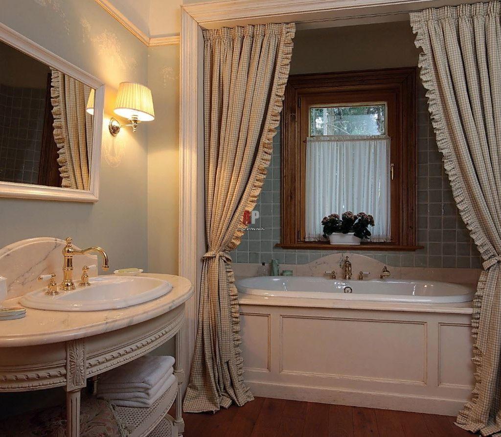 Идеи маленькой ванной: французская цветочная ванная