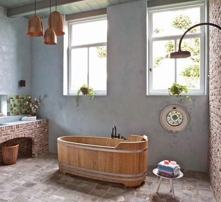 Ванная комната в стиле Кантри