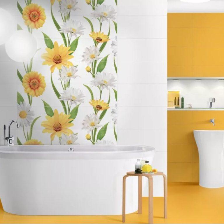 как покрасить плитку в ванной комнате