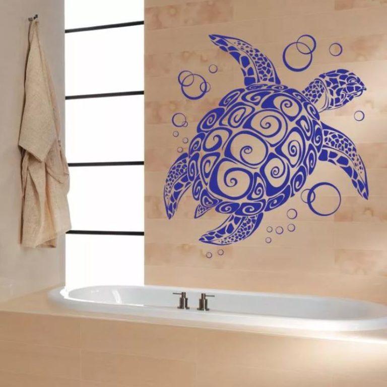 Рисуем картинки в ванную комнату