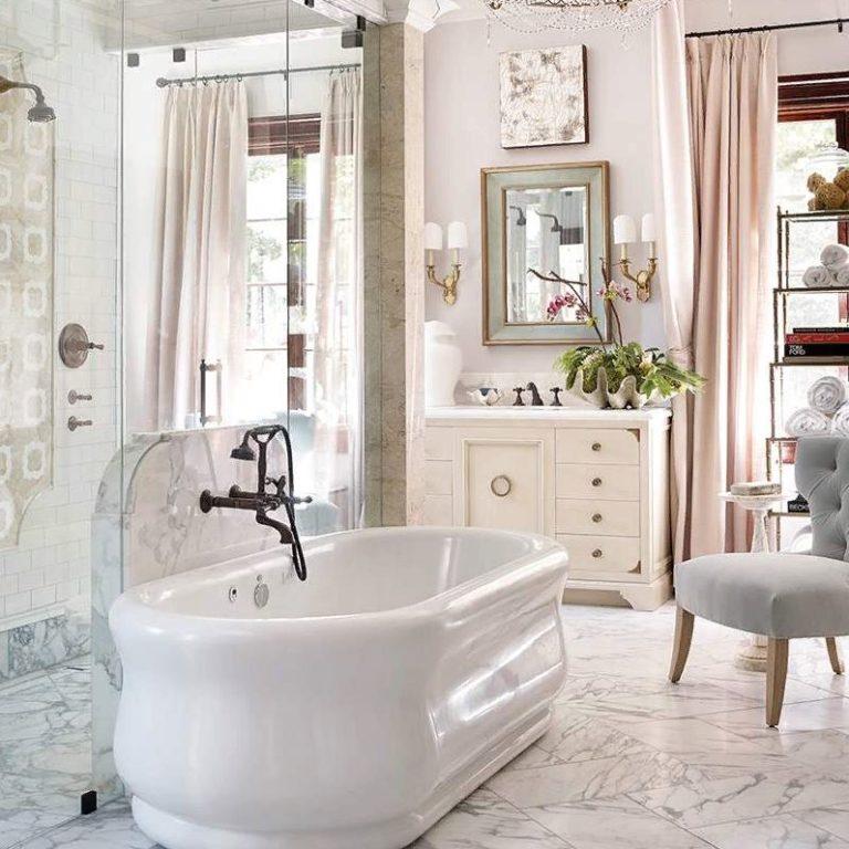 Элегантные парижские идеи ванной комнаты