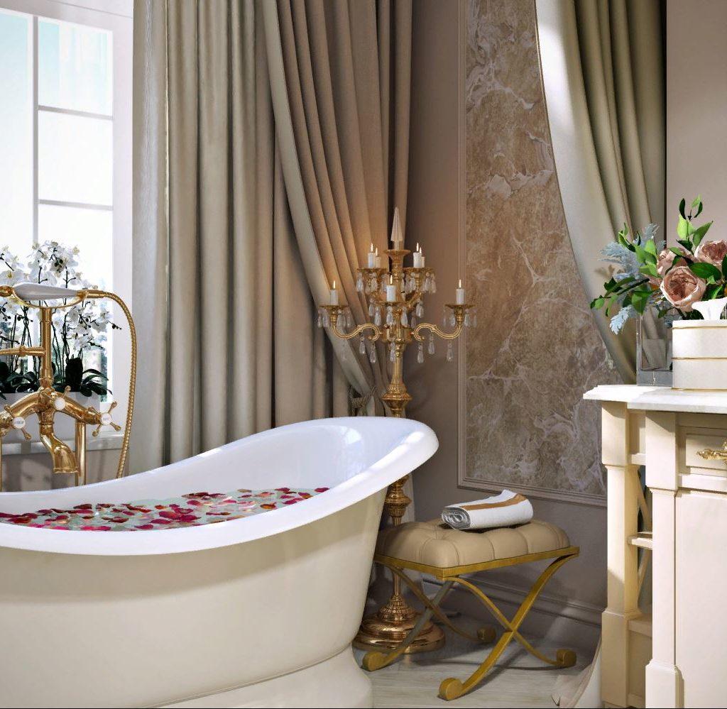 Элегантные парижские идеи декора ванной комнаты