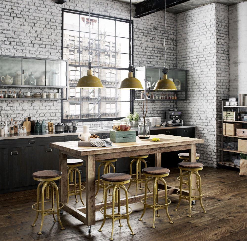 Модная кухня в стиле французского Бистро