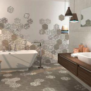 Широкоформатная плитка для ванной