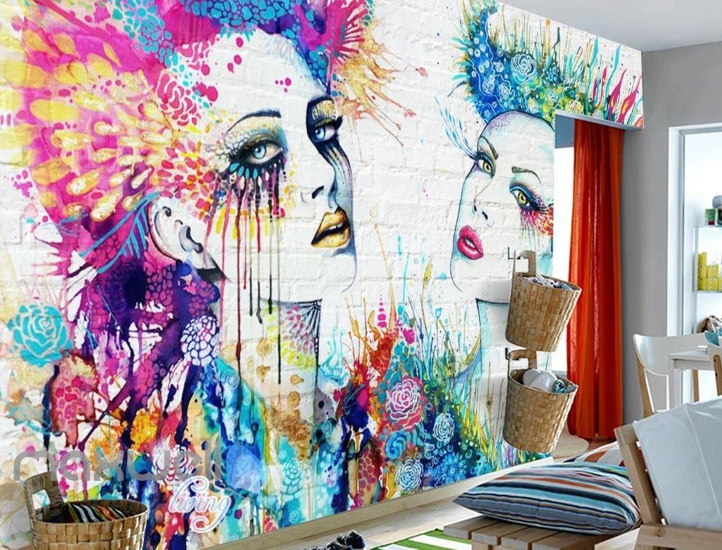 Обои Граффити в интерьере