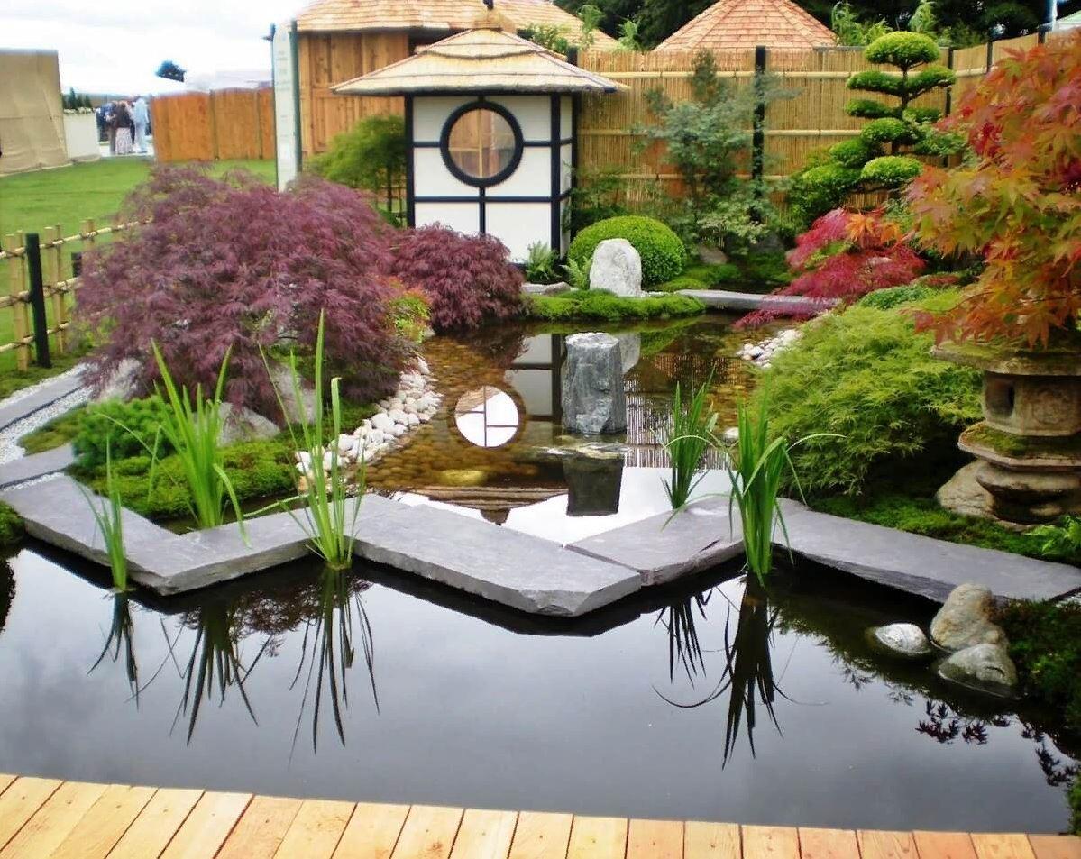 Дизайн сада в японском стиле