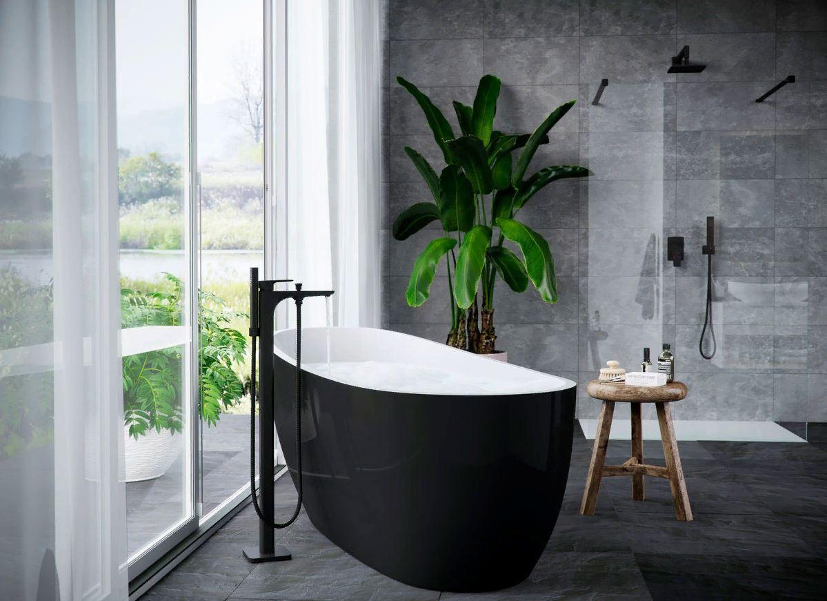 Черный смеситель - изысканный акцент для кухни и ванной комнаты