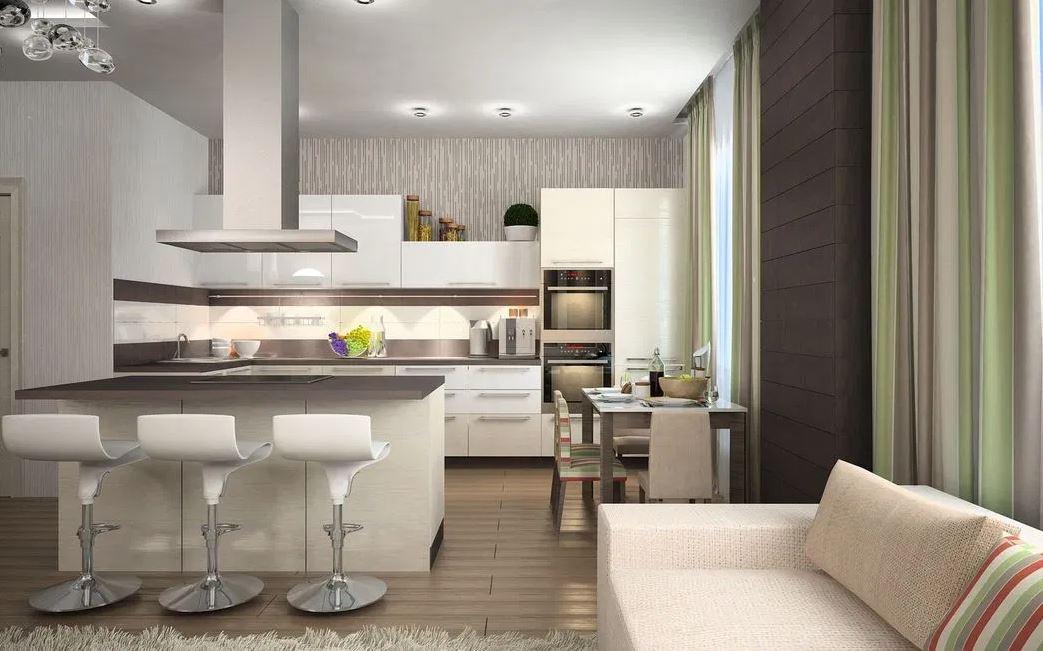 Как обставить кухню и гостиную в едином открытом пространстве