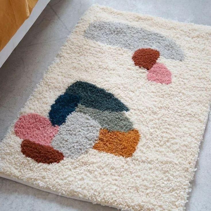 Коврики для ванной: материал, цвета, формы